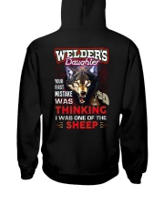 Welder's Daughter - I'm the Wolf Hooded Sweatshirt back