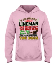 Lineman's Wife Hooded Sweatshirt front