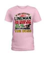 Lineman's Wife Ladies T-Shirt tile
