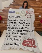 "Trucker's Wife  Premium Large Fleece Blanket - 60"" x 80"" aos-coral-fleece-blanket-60x80-lifestyle-front-04"