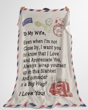 "Trucker's Wife  Premium Large Fleece Blanket - 60"" x 80"" aos-coral-fleece-blanket-60x80-lifestyle-front-10"