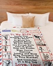 "Lineman's Wife  Premium Large Fleece Blanket - 60"" x 80"" aos-coral-fleece-blanket-60x80-lifestyle-front-02"