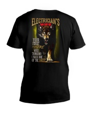 ELECTRICIAN'S WIFE - I'M THE WOLF   V-Neck T-Shirt thumbnail