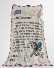 "Mechanic's Daughter  Premium Large Fleece Blanket - 60"" x 80"" aos-coral-fleece-blanket-60x80-lifestyle-front-10"