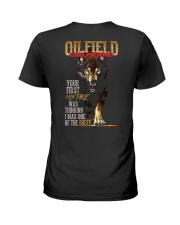 OILFIELD MAN'S  GIRLFRIEND - I'M THE WOLF   Ladies T-Shirt thumbnail