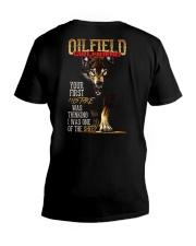 OILFIELD MAN'S  GIRLFRIEND - I'M THE WOLF   V-Neck T-Shirt thumbnail