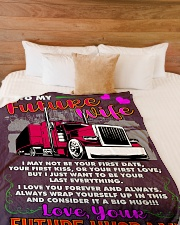 "Trucker's Future  Premium Large Fleece Blanket - 60"" x 80"" aos-coral-fleece-blanket-60x80-lifestyle-front-02"