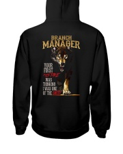 BRANCH MANAGER Hooded Sweatshirt back