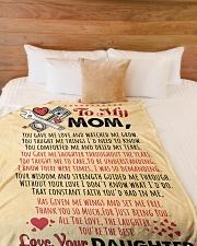 "Mechanic's Mom  Premium Large Fleece Blanket - 60"" x 80"" aos-coral-fleece-blanket-60x80-lifestyle-front-02"