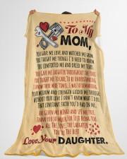 "Mechanic's Mom  Premium Large Fleece Blanket - 60"" x 80"" aos-coral-fleece-blanket-60x80-lifestyle-front-10"