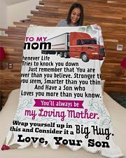 "Trucker's Mom - Black Friday Sale Large Fleece Blanket - 60"" x 80"" aos-coral-fleece-blanket-60x80-lifestyle-front-04"
