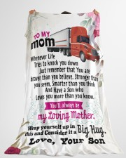 "Trucker's Mom - Black Friday Sale Large Fleece Blanket - 60"" x 80"" aos-coral-fleece-blanket-60x80-lifestyle-front-10"