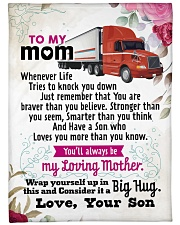 "Trucker's Mom - Black Friday Sale Large Fleece Blanket - 60"" x 80"" front"