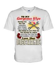 Mechanic's Wife V-Neck T-Shirt tile