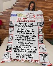 "EMT's Girlfriend  Premium Large Fleece Blanket - 60"" x 80"" aos-coral-fleece-blanket-60x80-lifestyle-front-04"