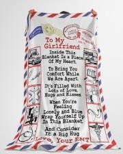 "EMT's Girlfriend  Premium Large Fleece Blanket - 60"" x 80"" aos-coral-fleece-blanket-60x80-lifestyle-front-10"