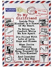 """EMT's Girlfriend  Premium Large Fleece Blanket - 60"""" x 80"""" front"""