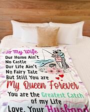 "GIFT FOR WIFE Premium Large Fleece Blanket - 60"" x 80"" aos-coral-fleece-blanket-60x80-lifestyle-front-02"