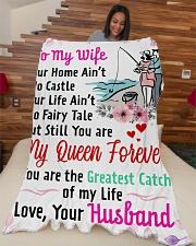 "GIFT FOR WIFE Premium Large Fleece Blanket - 60"" x 80"" aos-coral-fleece-blanket-60x80-lifestyle-front-04"