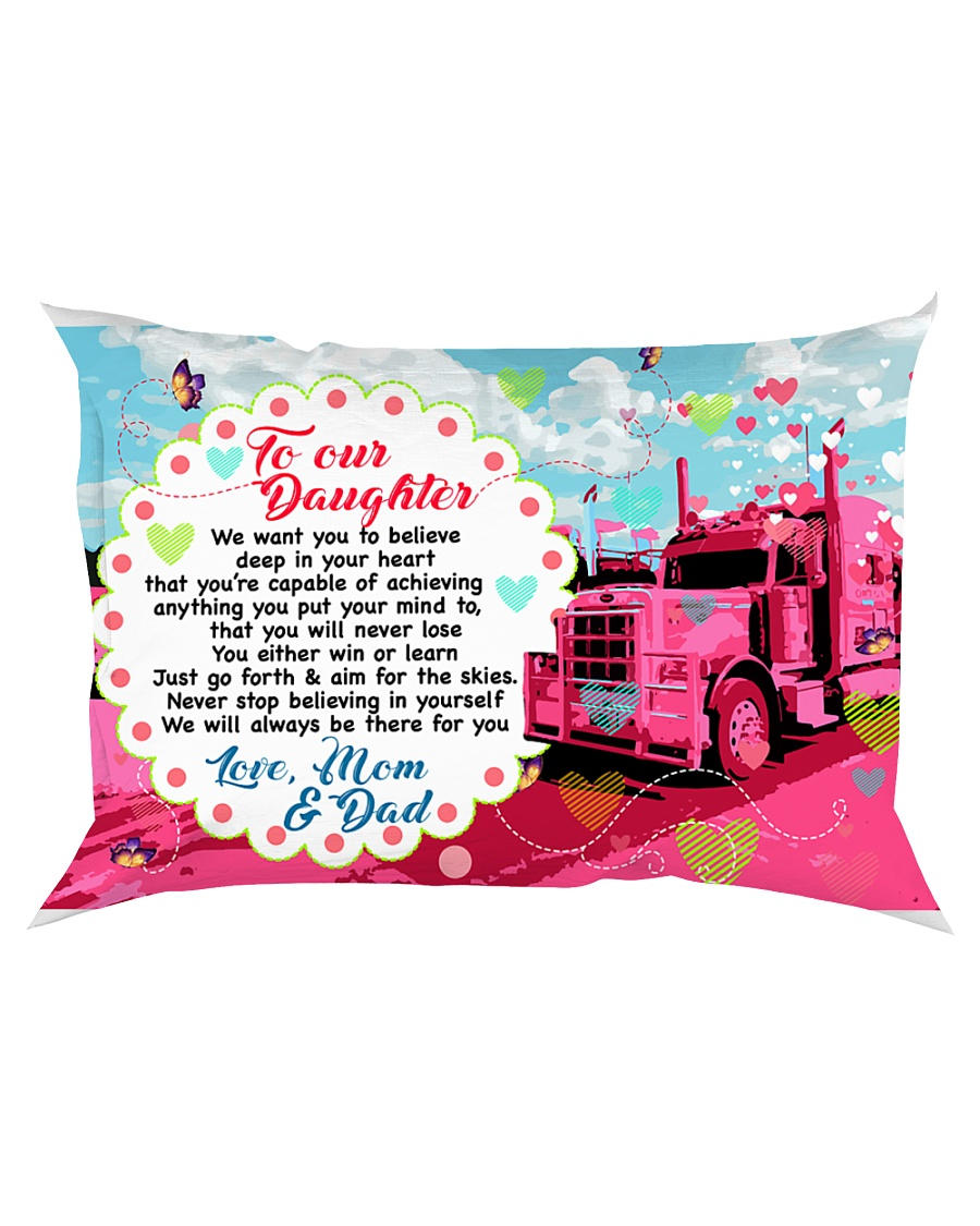 GIFT FOR A TRUCKER'S DAUGHTER - PREMIUM Rectangular Pillowcase