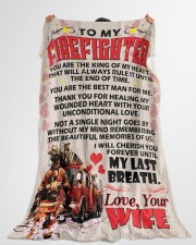 """Gift For Firefighter Premium Large Fleece Blanket - 60"""" x 80"""" aos-coral-fleece-blanket-60x80-lifestyle-front-10"""