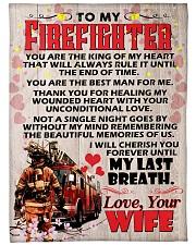 """Gift For Firefighter Premium Large Fleece Blanket - 60"""" x 80"""" front"""