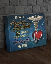 MEDICAL ASSISTANT - Premium 14x11 Gallery Wrapped Canvas Prints aos-canvas-pgw-14x11-lifestyle-front-11