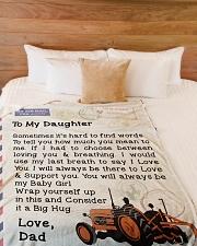 "Farmer's Daughter  Premium Large Fleece Blanket - 60"" x 80"" aos-coral-fleece-blanket-60x80-lifestyle-front-02"