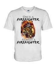 RETIRED FIREFIGHTER V-Neck T-Shirt thumbnail