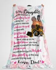 "HEO's Daughter - Black Friday Sale Large Fleece Blanket - 60"" x 80"" aos-coral-fleece-blanket-60x80-lifestyle-front-10"