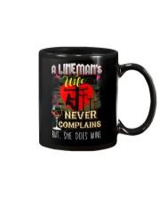 LINEMAN'S  WIFE LOVES WINE Mug tile