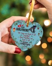 Lineman's Girlfriend - Heart ornament - single (porcelain) aos-heart-ornament-single-porcelain-lifestyles-08
