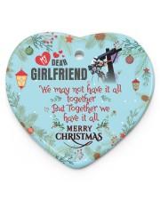 Lineman's Girlfriend - Heart ornament - single (porcelain) front