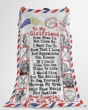 "FIREFIGHTER'S GIRLFRIEND- PREMIUM Large Fleece Blanket - 60"" x 80"" aos-coral-fleece-blanket-60x80-lifestyle-front-10"