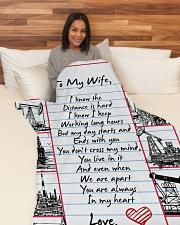 "Oilfield Man's Wife Premium Large Fleece Blanket - 60"" x 80"" aos-coral-fleece-blanket-60x80-lifestyle-front-05"