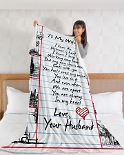"Oilfield Man's Wife Premium Large Fleece Blanket - 60"" x 80"" aos-coral-fleece-blanket-60x80-lifestyle-front-11"