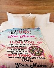 "Firefighter's Wife Premium Large Fleece Blanket - 60"" x 80"" aos-coral-fleece-blanket-60x80-lifestyle-front-02"