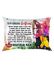 GIFT FOR YOUR GIRLFRIEND- PREMIUM Rectangular Pillowcase back