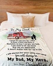 "Gift For Trucker Premium Large Fleece Blanket - 60"" x 80"" aos-coral-fleece-blanket-60x80-lifestyle-front-02"