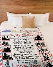 "Biker's Wife Large Fleece Blanket - 60"" x 80"" aos-coral-fleece-blanket-60x80-lifestyle-front-02"