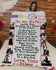 "Biker's Wife Large Fleece Blanket - 60"" x 80"" aos-coral-fleece-blanket-60x80-lifestyle-front-04"