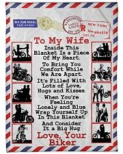 """Biker's Wife Large Fleece Blanket - 60"""" x 80"""" front"""