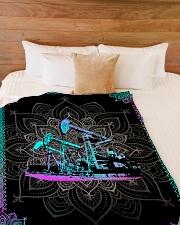 "OILFIELD MAN Premium Large Fleece Blanket - 60"" x 80"" aos-coral-fleece-blanket-60x80-lifestyle-front-02"