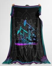 "OILFIELD MAN Premium Large Fleece Blanket - 60"" x 80"" aos-coral-fleece-blanket-60x80-lifestyle-front-10"
