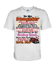 Trucker's Daughter V-Neck T-Shirt thumbnail