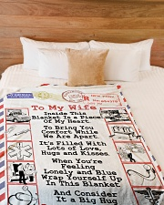 "EMT's Wife  Premium Large Fleece Blanket - 60"" x 80"" aos-coral-fleece-blanket-60x80-lifestyle-front-02"