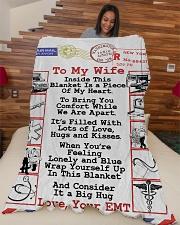 "EMT's Wife  Premium Large Fleece Blanket - 60"" x 80"" aos-coral-fleece-blanket-60x80-lifestyle-front-04"