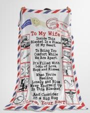 "EMT's Wife  Premium Large Fleece Blanket - 60"" x 80"" aos-coral-fleece-blanket-60x80-lifestyle-front-10"