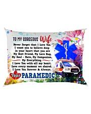 GIFT FOR A PARAMEDIC'S WIFE - PREMIUM Rectangular Pillowcase back