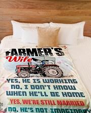 "Farmer's Wife Large Fleece Blanket - 60"" x 80"" aos-coral-fleece-blanket-60x80-lifestyle-front-02"